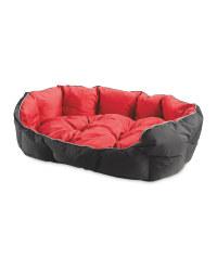 Red/Black Water Resistant Pet Bed