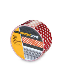Red/White Dots Supertough Duct Tape