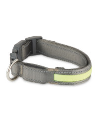 Reflective Pet Collar - Grey