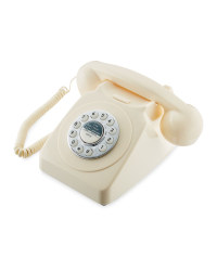 Reka Retro Corded Home Phone - Cream