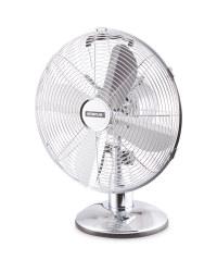 Kirkton House Retro Desk Fan - Chrome