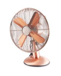 Kirkton House Retro Desk Fan - Copper
