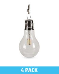 Eureka Solar Retro Lightbulb 4 Pack