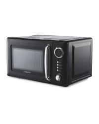 Ambiano Black Retro Microwave