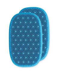 Reusable Silicone Sponges 2 Pack - Blue