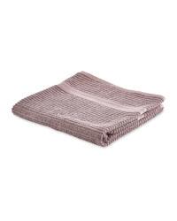 Kirkton House Ribbed Bath Towel - Mauve