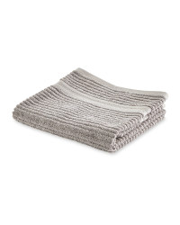 Kirkton House Ribbed Hand Towel - Light Grey