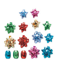 Multicoloured Ribbons & Bows 33 Pack
