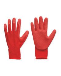 Red Robust Gardening Gloves Medium