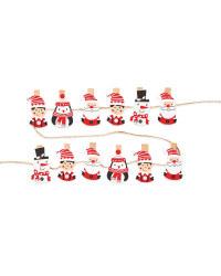 Rocking Christmas Peg Card Holders