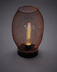 Rose Gold Solar Lantern Wire Mesh