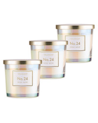 Rose Noir Glass Candle 3 Pack