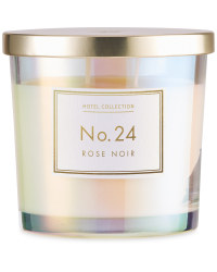 Rose Noir Glass Candle