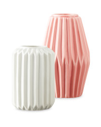 Rose/Grey Decorative Vase 2 Pack