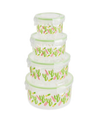 Round Cactus Food Storage