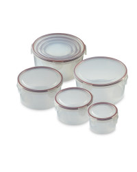 Round Clip-Lid Storage Containers - Masala