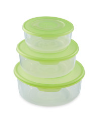 Round Food Storage Containers - Green