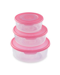 Round Food Storage Containers - Magenta