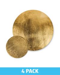 Round Placemat & Coaster Set - Gold