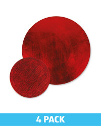 Round Placemat & Coaster Set - Red
