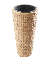 Round Water Hyacinth Planter - Natural