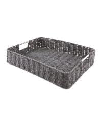 Rustic Design Outdoor Tray - Black