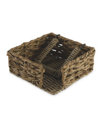 Rustic Outdoor Napkin Holder - Natural