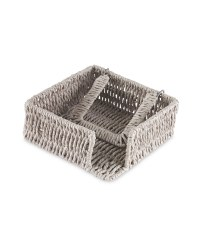 Rustic Outdoor Napkin Holder - Grey