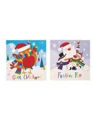 Santa & Robin Mini Christmas Cards