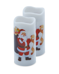 Santa Candle Projector 2 Pack