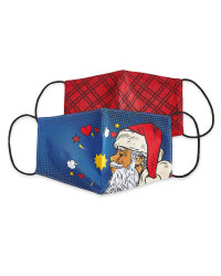 Santa Face Covering 2 Pack