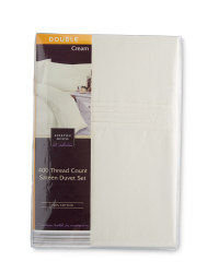 Sateen Double Duvet Set - Cream