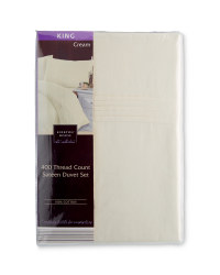 Sateen King Duvet Set - Cream