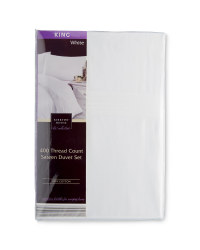 Sateen King Duvet Set - White