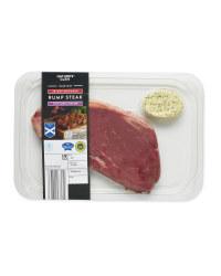 Scotch Rump Steak with Garlic Butter