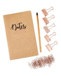 Script Copper Notepad Set