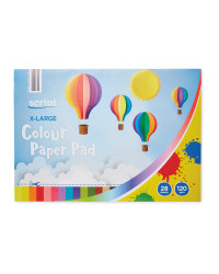 Script XLarge Colour Pad 28 Sheets