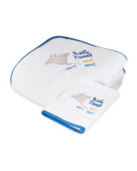 Sea Hooded Baby Towel & Mitt