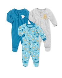 Sea Life Sleepsuit 3 Pack