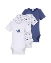 Sealife Baby Bodysuit 3 Pack
