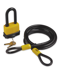 Home Protector Padlock With Cable