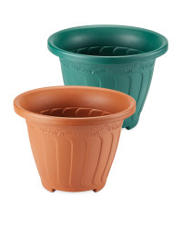 Self-Watering Round Pot
