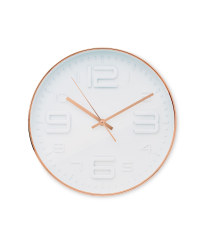 Sempre 3D Number Wall Clock - Copper