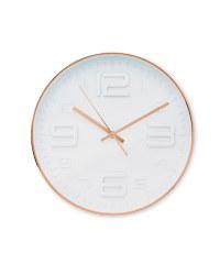 Sempre 3D Number Wall Clock - Copper