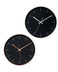 Sempre Black Wall Clock