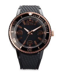 Sempre Black/Rose Gold Watch