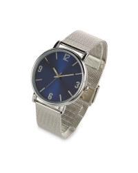 Sempre Blue Metal Strap Watch