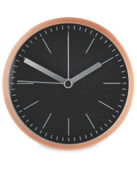 Sempre Designer Alarm Clocks - Rose Gold/Black