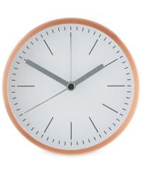 Sempre Designer Alarm Clocks - Rose Gold/White