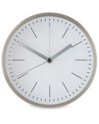 Sempre Designer Alarm Clocks - Silver/White